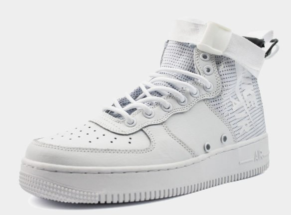 Nike SF Air Force 1 Mid белые