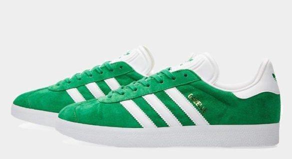 Фото Adidas Gazelle зеленые - 2