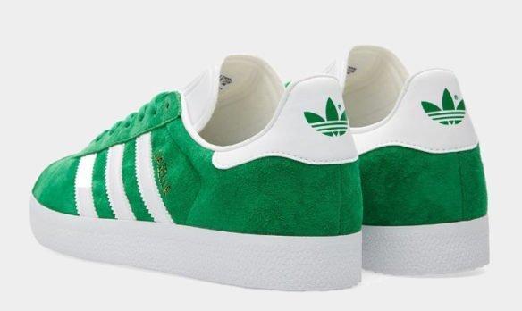 Фото Adidas Gazelle зеленые - 1
