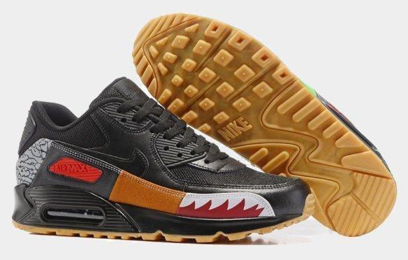 Фото Nike Air Max 90 (Atmos Safari Black) черные - 2