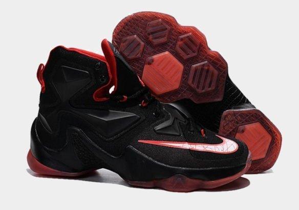 Фото Nike LeBron 13 Bred черные - 3