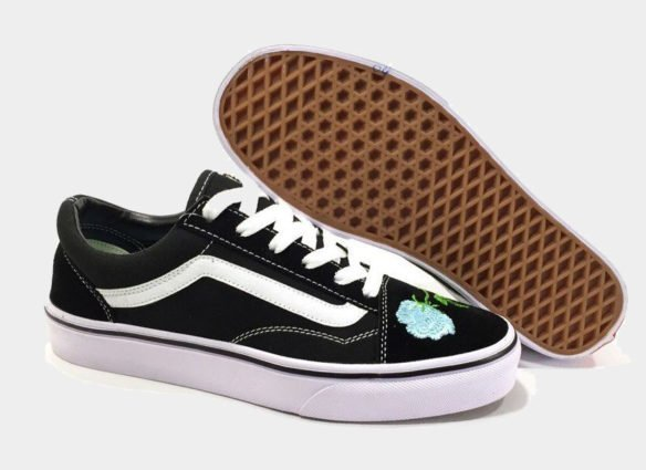 Фото Vans Old Skool (Black-White-Mint) - 4