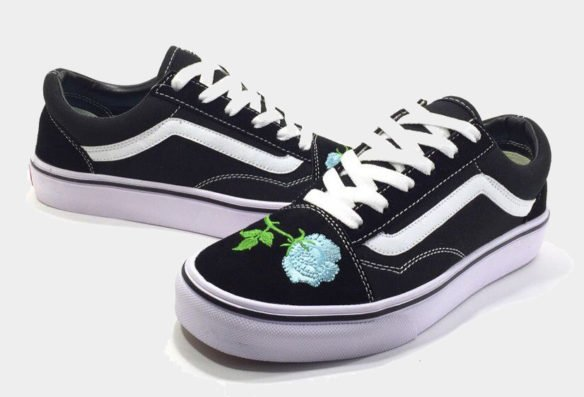 Фото Vans Old Skool (Black-White-Mint) - 3