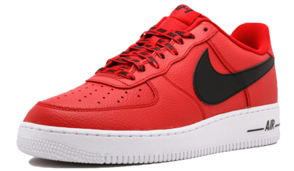 Фото Nike Air Force 1 LV8 NBA красные - 1