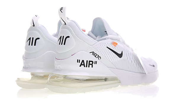 Фото Off White x Nike Air Max 270 Белые - 4